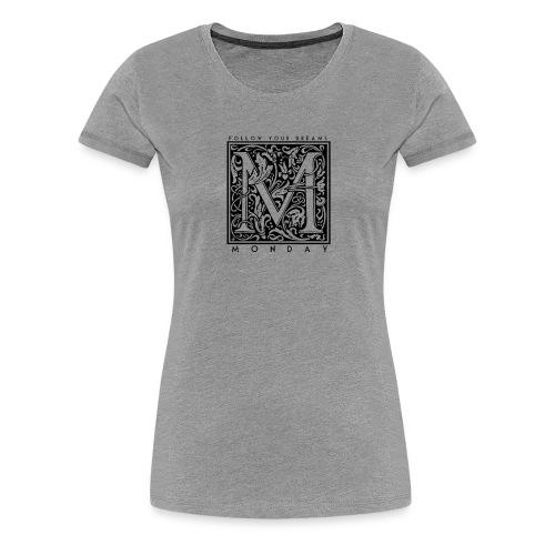 MONDAY Weiber Motiv transparent png - Frauen Premium T-Shirt