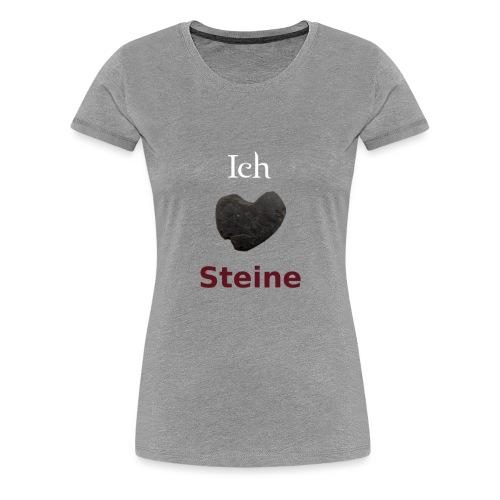 Ich liebe Steine png - Frauen Premium T-Shirt