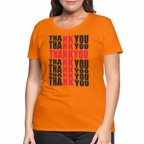 Motyw z napisem Thank You - Koszulka damska Premium