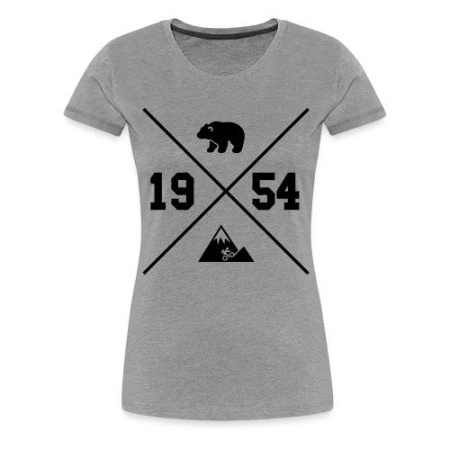 Karhuvuori -baseballhuppari - Naisten premium t-paita