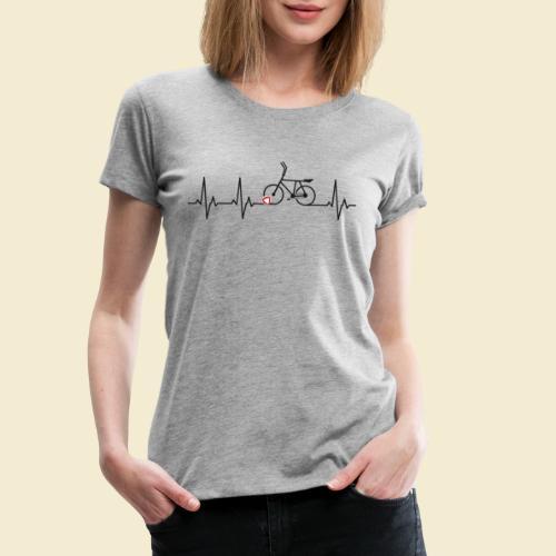 Radball | Heart Monitor Black - Frauen Premium T-Shirt