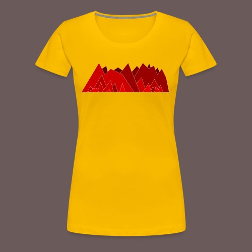 Simplistic Mountains - Dame premium T-shirt