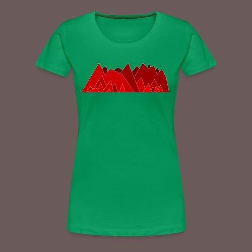 Simplistic Mountains - Dame premium T-shirt