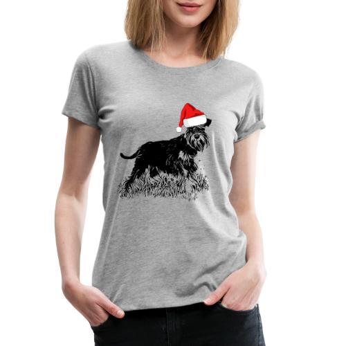 Weihnachten Zwergschnauzer Hund Schnauzer Geschenk - Frauen Premium T-Shirt