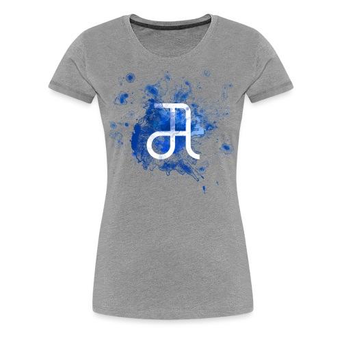 Glyphe Blau - Frauen Premium T-Shirt