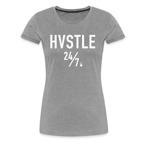 HVSTLE 24/7 - White Font - Frauen Premium T-Shirt