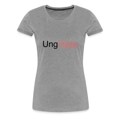 unghjelp sort ung uten logo - Premium T-skjorte for kvinner