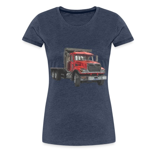 Flat Truck 3-axle - Red - Women's Premium T-Shirt
