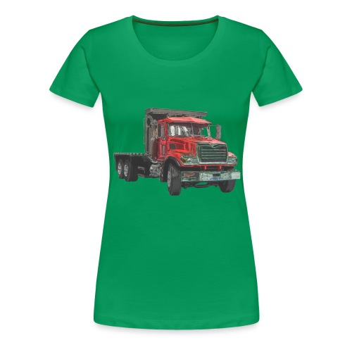 Flat Truck 3-axle - Red - Women's Premium T-Shirt