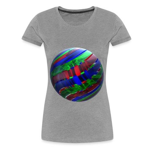 RGB Nested Ribbon Spheres - Women's Premium T-Shirt