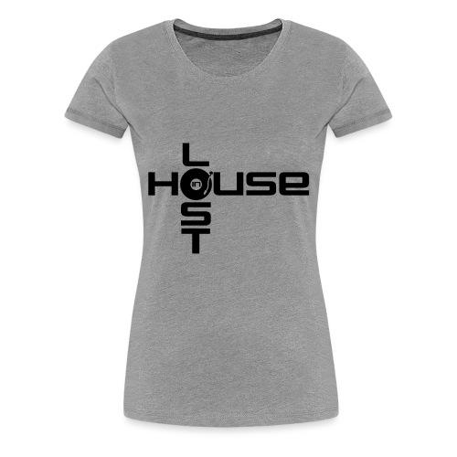 Lost In House Logo Black - Women's Premium T-Shirt