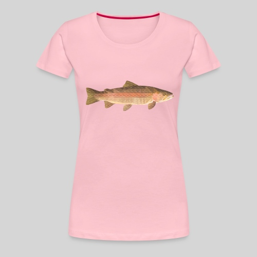 low-polygon-trout art.png - Naisten premium t-paita