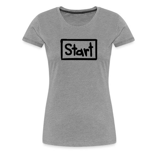 Startbutton - Frauen Premium T-Shirt