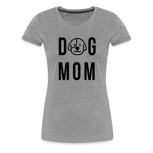 DogMom schwarz png - Frauen Premium T-Shirt