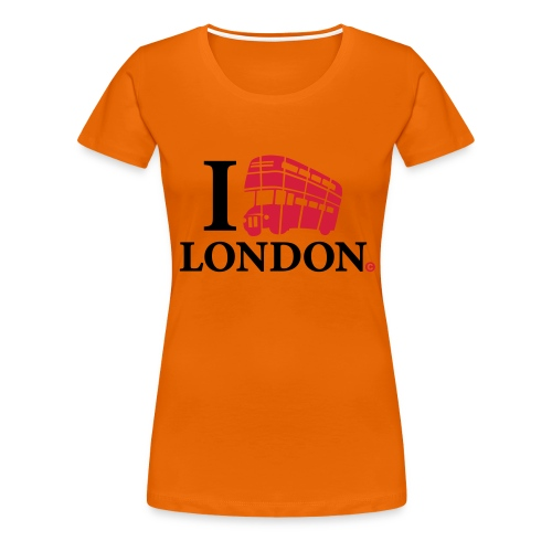 I love (Double-decker bus) London - Women's Premium T-Shirt