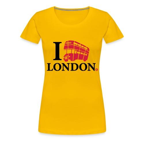 I love (Double-decker bus) London - Women's Premium T-Shirt
