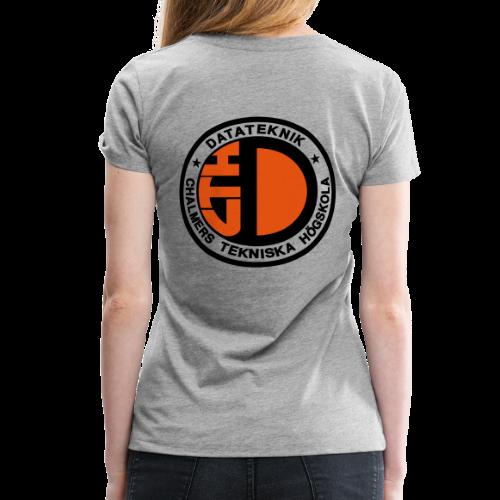 Datalogga för ljusa bakgrunder - Premium-T-shirt dam