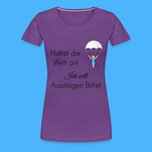 Fallschirm schwarz - Frauen Premium T-Shirt
