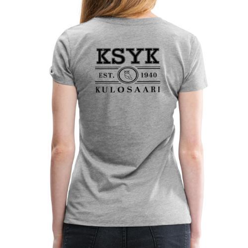 KULOSAARI (BLACK) - Naisten premium t-paita