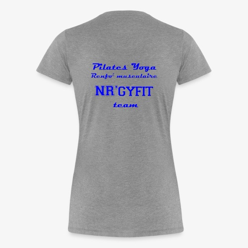 NRgyfit Team bleu Tshirt by NR'gyfit Nature - T-shirt Premium Femme