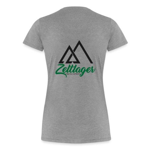 Zeltlager Logo Hinten Schwarz-Grün Edition - Frauen Premium T-Shirt