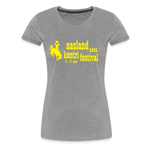 festival logo vect - Premium T-skjorte for kvinner