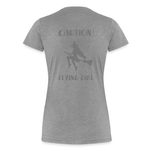 PG Caution flying girl - Women's Premium T-Shirt