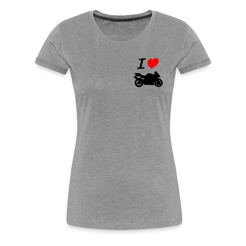 I LOVE MOTO - T-shirt Premium Femme