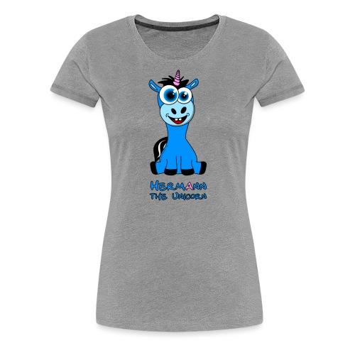 Hermann the Unicorn front - Frauen Premium T-Shirt