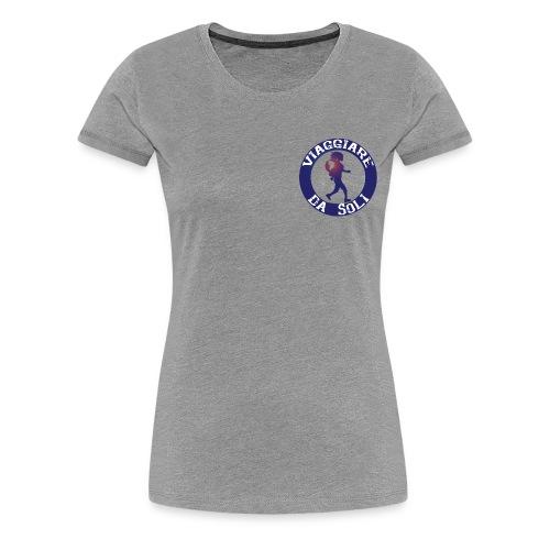 Viaggiare da Soli-01.png - Maglietta Premium da donna