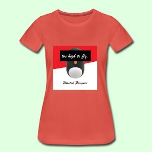 W. Penguin Logo w/ Background - Frauen Premium T-Shirt