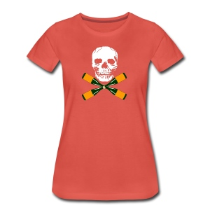 Skull and Bucky Bottles 2 - Women's Premium T-Shirt
