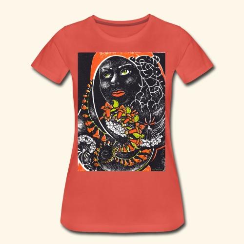 Musta madonna - Naisten premium t-paita