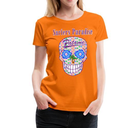 Patame Surfers Paradise Skull Purple - Frauen Premium T-Shirt
