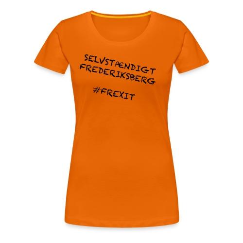 Selvstændigt Frederiksberg #FREXIT - Dame premium T-shirt