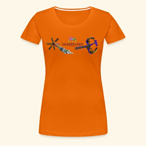 Logo groß mit Fahrgeschäften - Frauen Premium T-Shirt