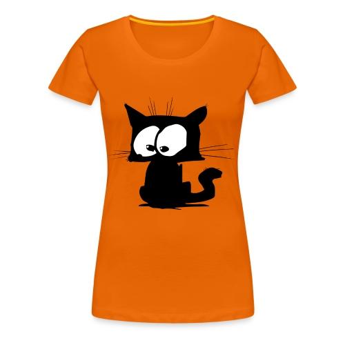 Black Cat 01 - T-shirt Premium Femme