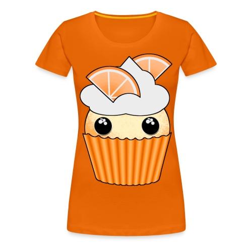 muffins apelsin orange med klyftor - Premium-T-shirt dam