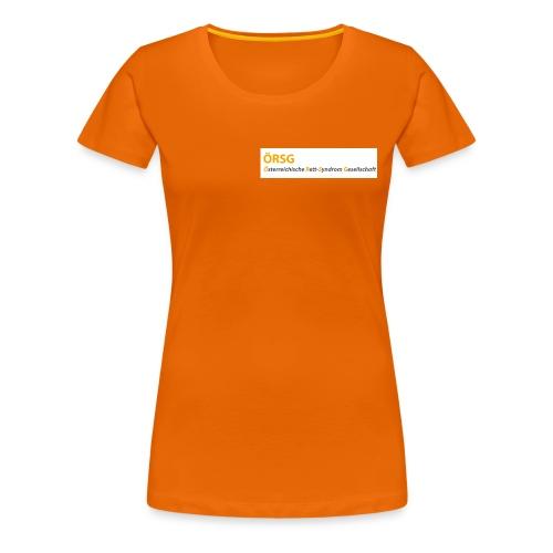 Text-Logo der ÖRSG - Rett Syndrom Österreich - Frauen Premium T-Shirt