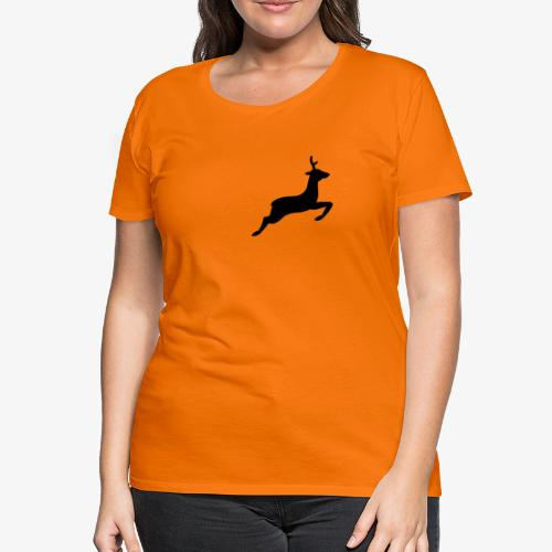 hirsch tehmen - Frauen Premium T-Shirt
