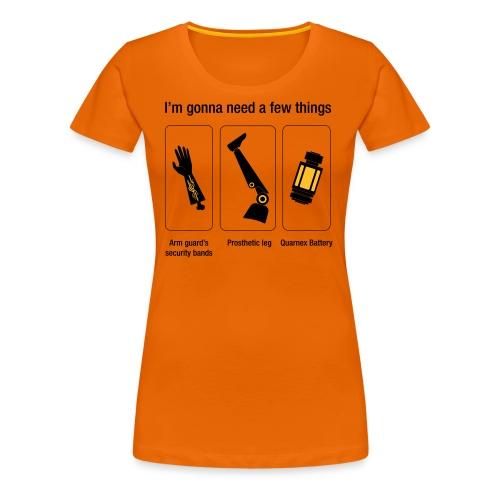 Rocket citation Few things gardiens - T-shirt Premium Femme