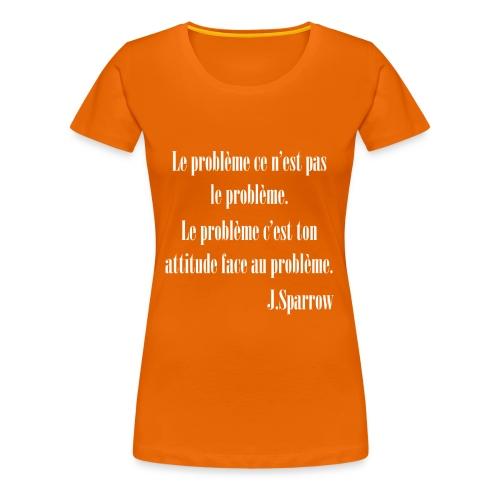 Jack Sparrow - T-shirt Premium Femme