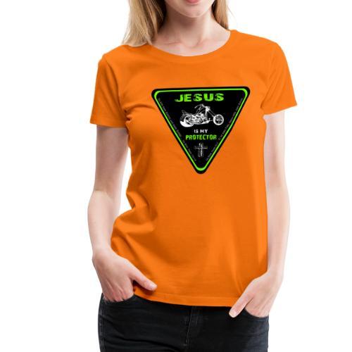 Jesus is my Protector - Frauen Premium T-Shirt