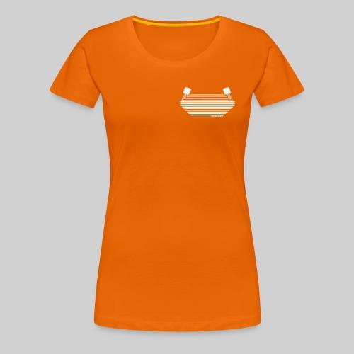 Stadionkultur white small Logo - Frauen Premium T-Shirt
