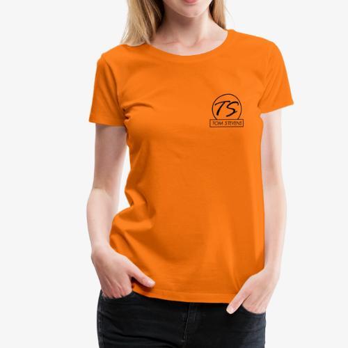 Tom Stevens Logo BLACK - Women's Premium T-Shirt