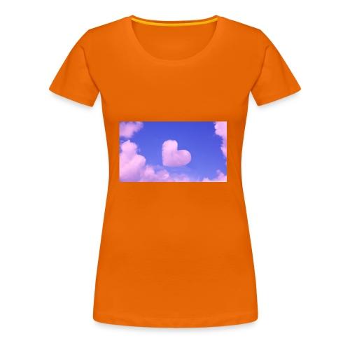 coeur nuage ciel rose - T-shirt Premium Femme