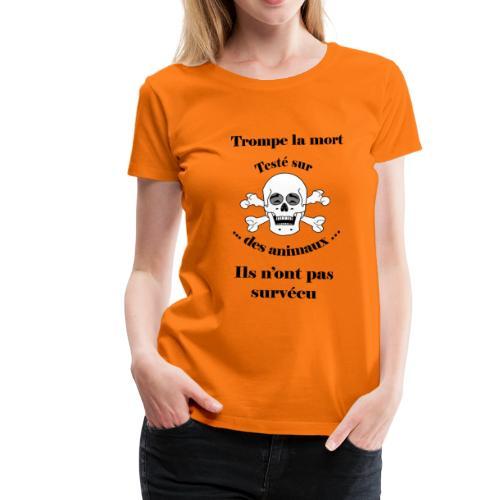 Trompe la mort «rieur» Test animal FC - T-shirt Premium Femme