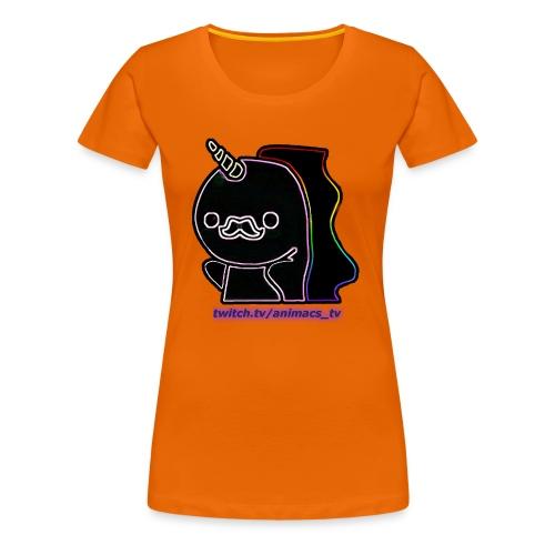 Einhornneon randlos - Frauen Premium T-Shirt