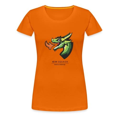 Draken med svart text - Premium-T-shirt dam