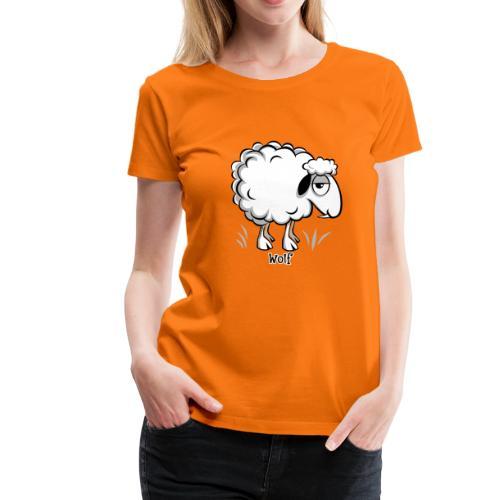 10-47 WOLF SHEEP- SUSI LAMMAS TUOTTEET - Naisten premium t-paita